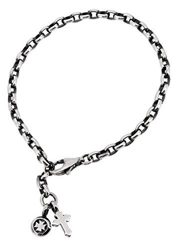 [ディールデザイン]DEAL DESIGN クロス チャーム シルバー 925 レディース アンクレット (20cm) メンズ レディース 足飾り