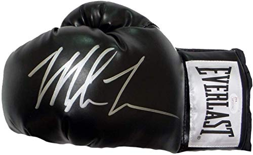 Mike Tyson Signed Autograph Boxing Glove Black JSA Witnessed Certified