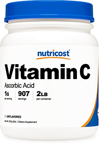 Nutricost Ascorbic Acid Powder (Vitamin C) 2 LBS - Gluten Free, Non-GMO