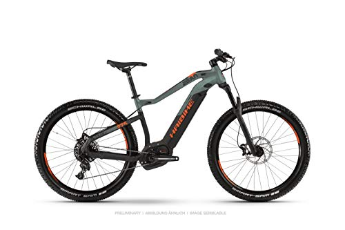 HAIBIKE Sduro HardSeven 8.0 27.5'' Pedelec E-Bike MTB schwarz/grün/orange 2019: Größe: XL