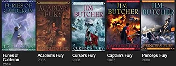 Codex Alera Series 5 Book Collection, Jim Butcher, Volumes 1-5 (Furies of Calderon / Academ's Fury / Cursor's Fury / Capta...