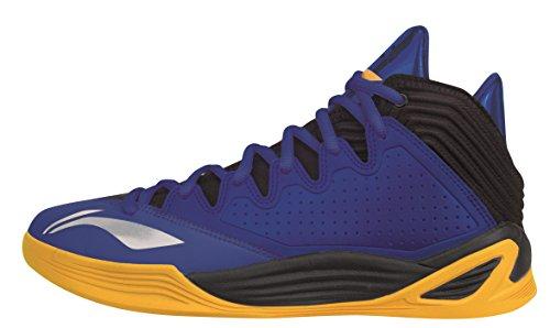 Li Ning Basketball-Schuh Quicksand Low blau/gelb 42 1/3
