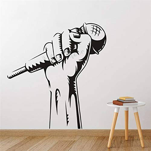 Tianpengyuanshuai Singer Microfoon Wall Vinyl Sticker Karaoke Music Club Muursticker Microfoon Hand afneembare muur