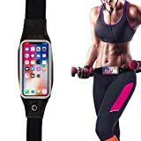 CEUTA® Universal Running Waist Belt, Waist Cell Phone Holder Sports Waist Belt for Running, Fitness and Gym Workouts, Compatible with iPhone X/8/7/6/Plus, Samsung Galaxy S9/S8/S7/S6/Edge/Plus