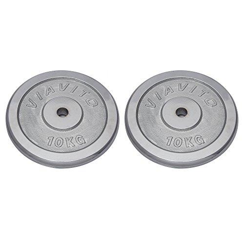 Viavito Piastre Cromate di Peso Standard, Argento, 4 x 0.5 kg