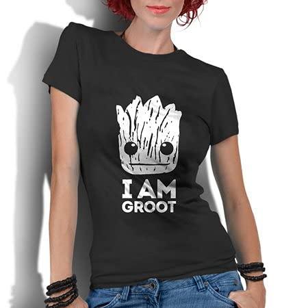 Camiseta Feminina Guardiões da Galáxia Groot Super Heróis (M)
