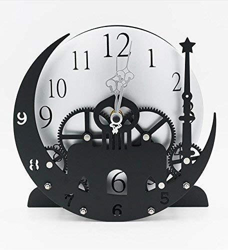 YLCJ Reloj de Pared de Rueda Dentada Reloj de creación Europea Reloj de Estilo Lunar Reloj de Alarma Sede Industrial Europea Reloj Reloj Reloj Digital Reloj Industrial Simplewind