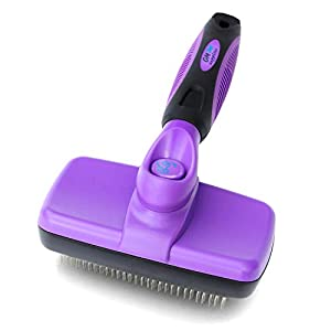 GM Pet Supplies Self Cleaning Slicker Brush | This is The Best Dog and Cat Brush for Shedding and Grooming | Our Pet Brushes Are Suitable for All Hair Lengths by
