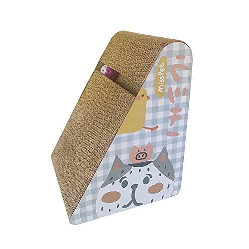 CHENSQ Rascador para gatos, rascador inclinado de cartón,