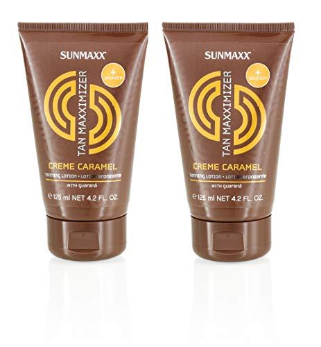 Sunmaxx Lotion bronzante, crème caramel 2 x 125 ml, pack économie
