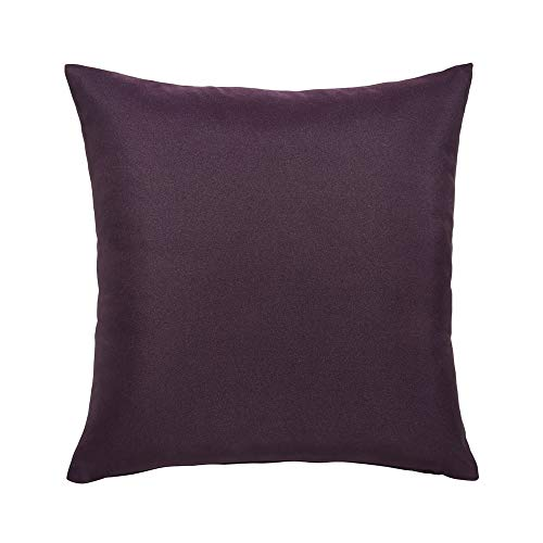 Today Coussin Déhoussable Coton 40/Deep Purple Coton Violet 40 x 40 cm