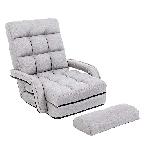 WAYTRIM Indoor Chaise Lounge Sofa, Folding Lazy Sofa Floor...