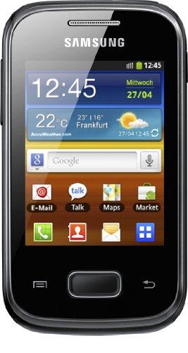 Samsung Galaxy Pocket S5300 Smartphone (7,1 cm (2.8 Zoll) Touchscreen, 2 Megapixel Kamera, Android 2.3) black