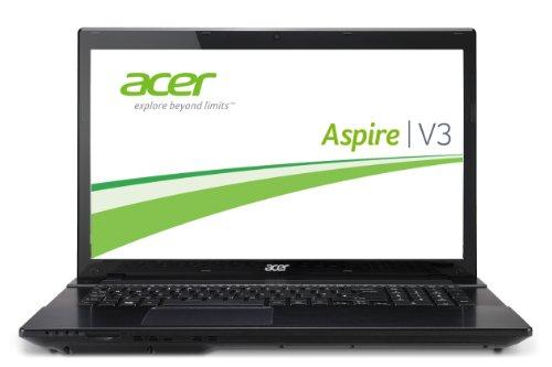 Acer Aspire V3-772G-747A8G1TMAKK 43,9 cm (17,3 Zoll) Notebook (Intel Core i7 4702MQ, 2,2GHz, 8GB RAM, 1TB HDD, NVIDIA GF GTX 760M, Win 8) schwarz