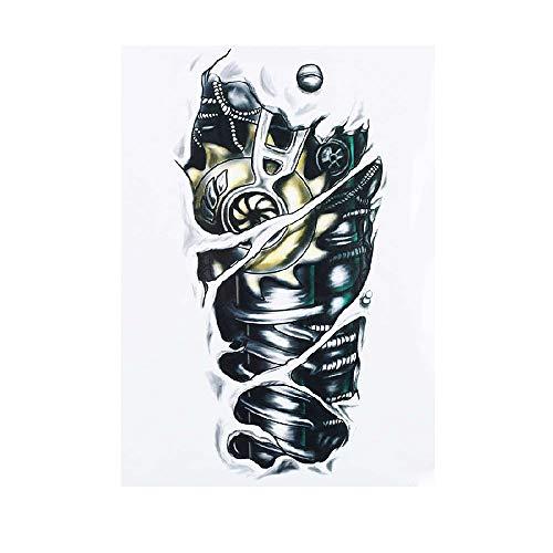 5 Stück 14.8X21CM Temporär Tätowierung Schwarz Tattoo Körperkunst,Extra Temporär Tätowierung,Klebe Tattoo Sticker,Fake Arm Tattoos Aufkleber Für Männer Frauen Mechanische Ausrüstung Skelett Drache Te