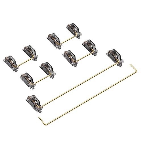 DUROCK V2 PCB Mount Screw-in, stabilizzatore 2u 6.25u 7u Keycap Stabilizers, per tastiere meccaniche 40% 60% 75% e layout TKL (Smokey)