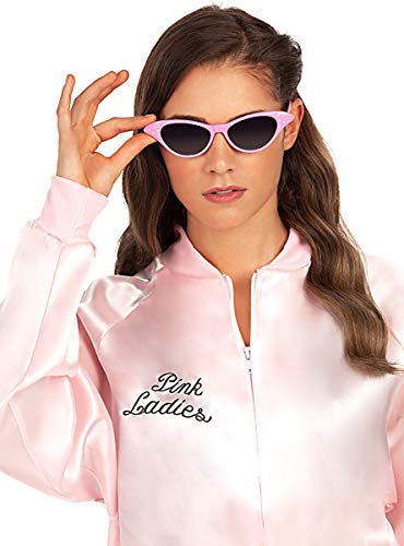 Funidelia   Gafas aos 50 para Mujer Aos 50: Rock & Roll, Sandy, Grease, Pelculas & Series - Rosa, Accesorio para Disfraz