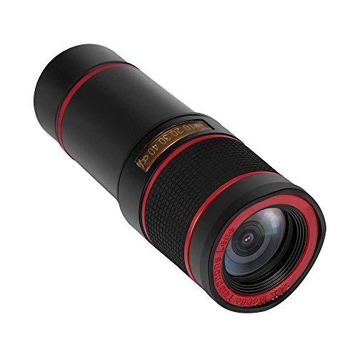 Gmgod❤️❤Phone Lens,HD 14x Optical Zoom Camera Telescope Lens with Clip Black