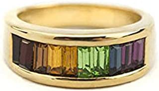 Providence 复古珠宝 70 年代彩虹风格施华洛世奇水晶 18K 黄金电镀