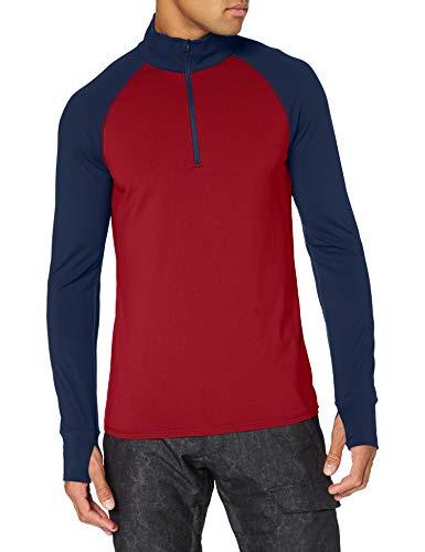 Marmot Camiseta Interior para Hombre con Media Cremallera, Hombre, Camiseta, 82080, Color Azul Oscuro, Large