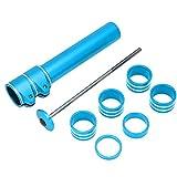 MAGT Dispositivo de Aumento de Manillar de Bicicleta, Accesorios Extensores de Tubos de Horquilla Delantera de Bicicleta de montaña de aleación de Aluminio de Alta Resistencia (Azul)