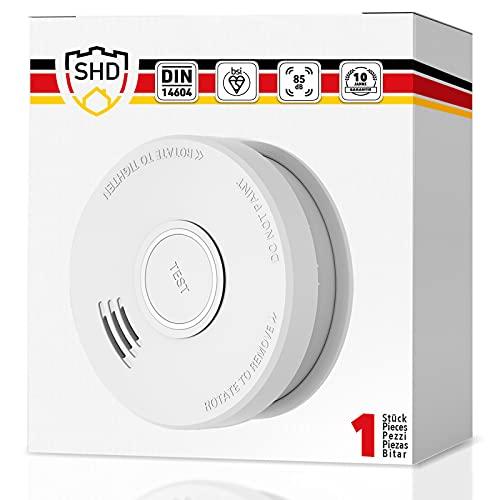 Rauchmelder mit 10 Jahre Garantie austauschbarer 9V Batterie - Rauchwarnmelder DIN EN14604 geprüft und BSI Zertifiziert