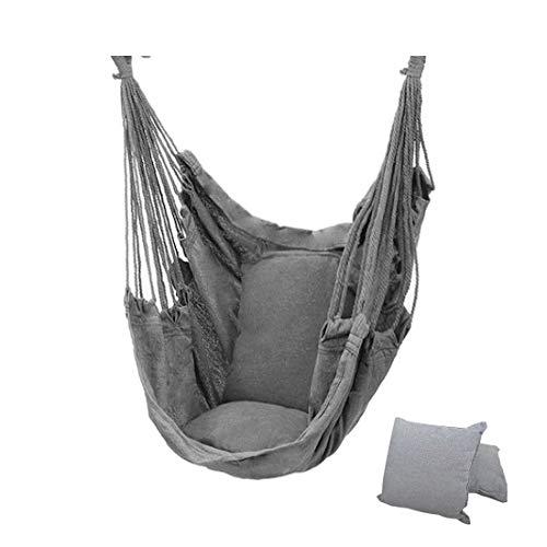 DYC - Hamaca para adultos y niños al aire libre, portátil, para relajación, para viajes, camping, jardín, recámara, gris