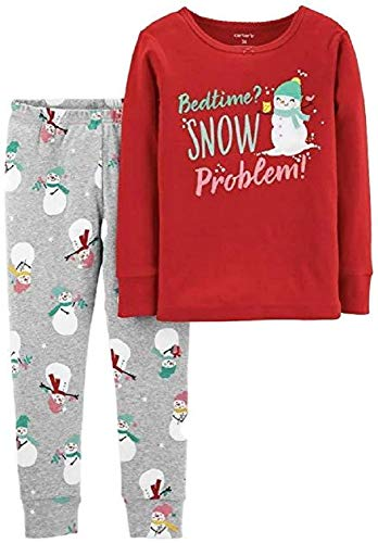 Carter's Girl Christmas Bedtime? Snow Problem Snug Fit Tops & Bottoms Pajama Set (12 Months)