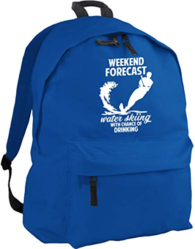 HippoWarehouse Weekend Forecast Water Skiing with Chance of Drinking Backpack ruck Sack Dimensions: 31 x 42 x 21 cm Capacity: 18 litres