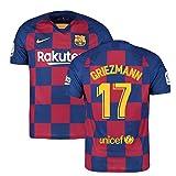 2019-2020 Barcelona Home Nike Football Soccer T-Shirt Trikot (Antoine Griezmann 17)