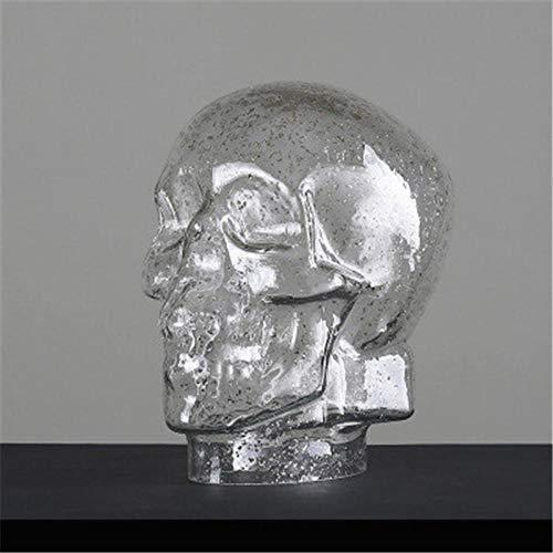 Standbeelden Sculpturen Van Hoofden Creatieve Glinsterende Poeder Schedel Hoofd Portretten Hoge Borosilicaatglas Standbeeld Woonkamer Tv Kast Ornamenten