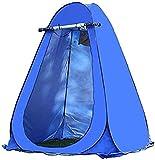 WSJYP Tente de Douche, Tente D'intimité Portative, Tente de Pièce Escamotable Extérieure, Tente de Camping, Vestiaire de Toilette,Blue