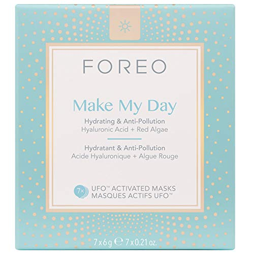 FOREO, Make My Day, Maschera attivabile da UFO, 7...