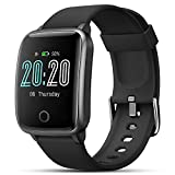 Smart Watch, LIFEBEE Smartwatch Heart Rate Monitor Fitness Tracker with 1.3' Touch Screen IP68 Waterproof Activity Tracking Pedometer/Sleep Monitor Bluetooth 5.0 for Android iOS Women Men (Black)