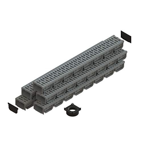 Standartpark - 4 Inch Trench Drain System With Grate - Gray - Spark 2 (5)