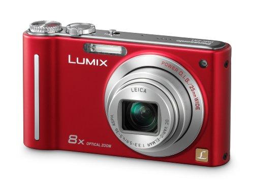Panasonic LUMIX DMC-ZX1 EG-R Digitalkamera (12 Megapixel, 8-fach opt. Zoom, 6,9 cm (2,7 Zoll) Display, Bildstabilisator) rot