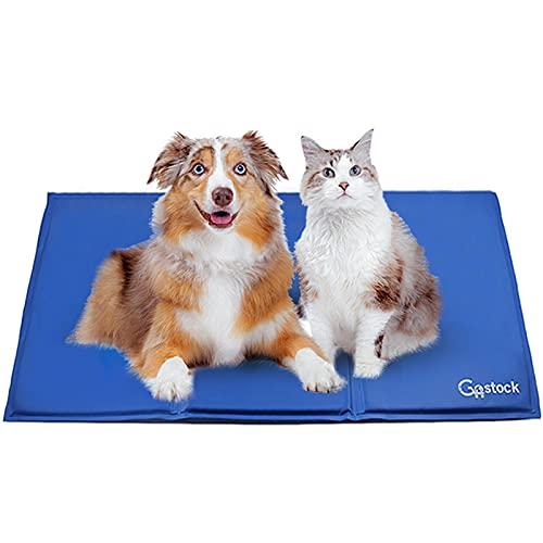 Kühlmatte für Hunde, GoStock Kühlmatte für Haustier Ungiftiges Gel-Selbstkühlungs Matte für Hunde und Katzen, Pet Cooling Mat Hund Cooler Pad für Kisten, Zwinger und Betten (90 * 50cm)
