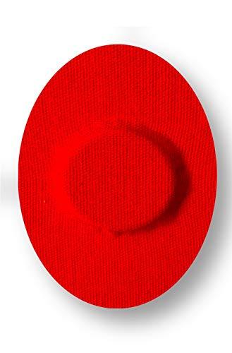FixTape ademende sensor tape voor Freestyle 1 & 2 I zelfklevende over tape voor glucose sensor I beschermingspatch met veel draagcomfort I huidvriendelijk watervast I 7 stuks (Rode)