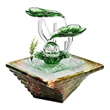 WFS Fuente de Interior Fuente de cerámica Desktop Interior Flujo de Aire Humidificación Oficina Sala de Estar Feng Shui Ball Regalo Decoración Adornos Fuentes Decorativas (Color : A)