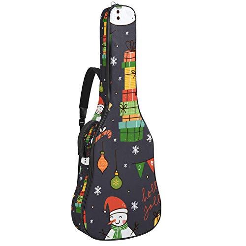Bolsa de guitarra eléctrica impermeable con cremallera suave para guitarra, bajo acústico y clásico