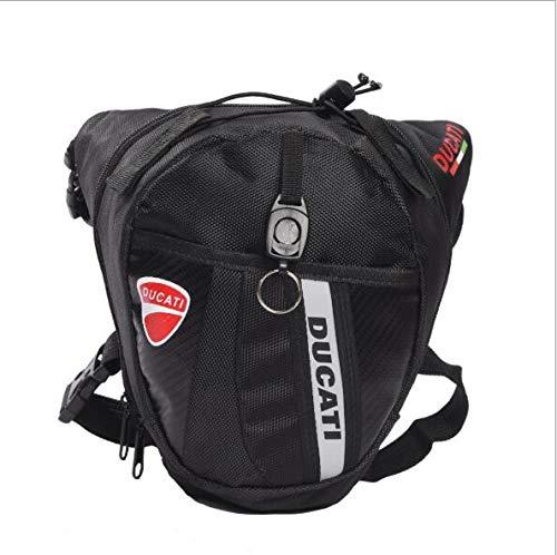 EDCV Gürteltasche Polyester Black Drop Leg Motorrad Fahrrad Gürteltasche Gürteltasche Handtasche Handtaschen, YMHA
