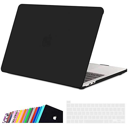 iNeseon Custodia per MacBook PRO 13 2020, Plastica Case Rigida Protettiva e Cover Tastiera con Touch Bar A2338(M1) A2251 A2289, Nero