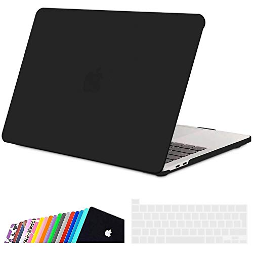 iNeseon Case for 2020 Macbook Pro 13-inch A2338(M1) A2289 A2251, Plastic Hard Shell Protective Cover and Keyboard Cover Compatible with New Macbook Pro 13 with Touch Bar, Black