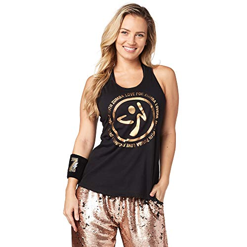 Zumba Women's Graphic Design Loose Breathable Workout Tank Top - Tank Mujer