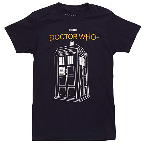 Doctor Who 13th Doctor Tardis Call Box Adult T-Shirt - Navy (Medium)
