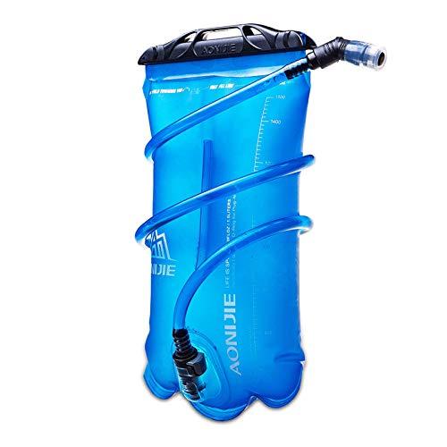 AONIJIE 1.5/2/3L TPU Poche Hydratation Réservoir d'eau Sac d'hydratation Gourde Pliable Poche Eau Bidon Bouteille d'eau Vessie (1.5L)