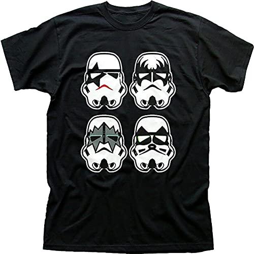 Wars Inspired Kiss Stormtrooper Faces Inspired Black T-Shirt Fn9419 Black-S