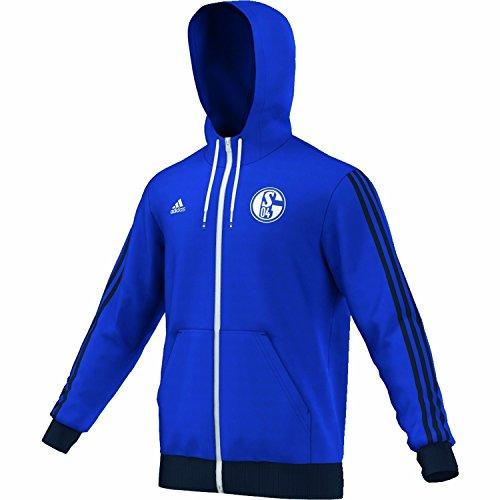 adidas Kapuzenjacke FC Schalke 04 Hoodie - Chaqueta técnica para Hombre, Color Azul, Talla XS