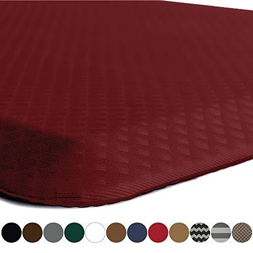 Kangaroo Original Standing Mat Kitchen Rug, Anti Fatigue Comfort Flooring, Phthalate Free, Commercial Grade Pads, Waterproof, Ergonomic Floor Pad for Office Stand Up Desk, 60x20, Red