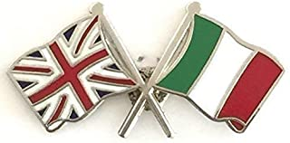 Great Britain & Italy bandiere preciso dell'amicizia, Lapel Pin Badge